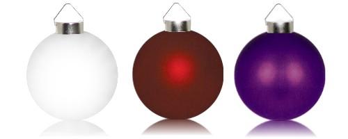 Beleuchtete Christbaumkugeln.Beleuchtete Weihnachtskugeln