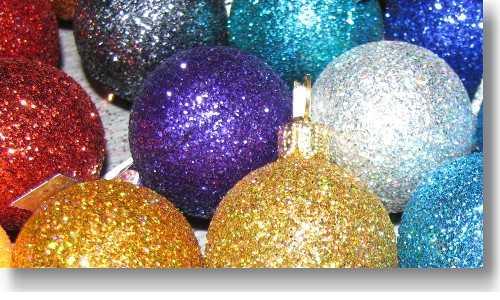 Glitzer Christbaumkugeln.Weihnachtskugeln Mit Glitzer